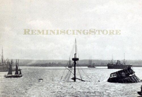 """Havana /""""Wreck of the-Maine-in Harbor/"""" © 1900 reprint"""