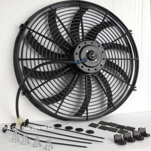 "Catalina Aluminum Radiator Fan Shroud /& 16/"" Electric Fan /& Relay Kit Fits 284"