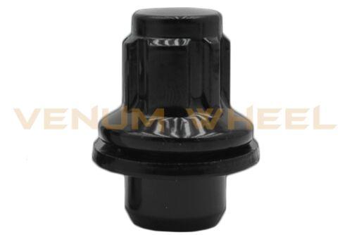 4pc Toyota Corolla Camry Factory Style Black Wheel Locking Lug Nuts 12x1.5 Key