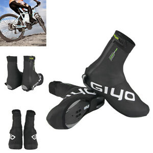 Unisex Road Bike Overshoes Cycling Shoe Covers Waterproof Thermal Fleece Lining