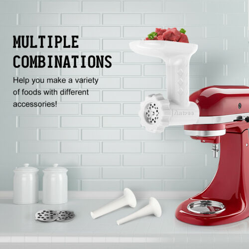 Antree Food Grinder and Sausage Tube Attachment for KitchenAid Stand Mixer
