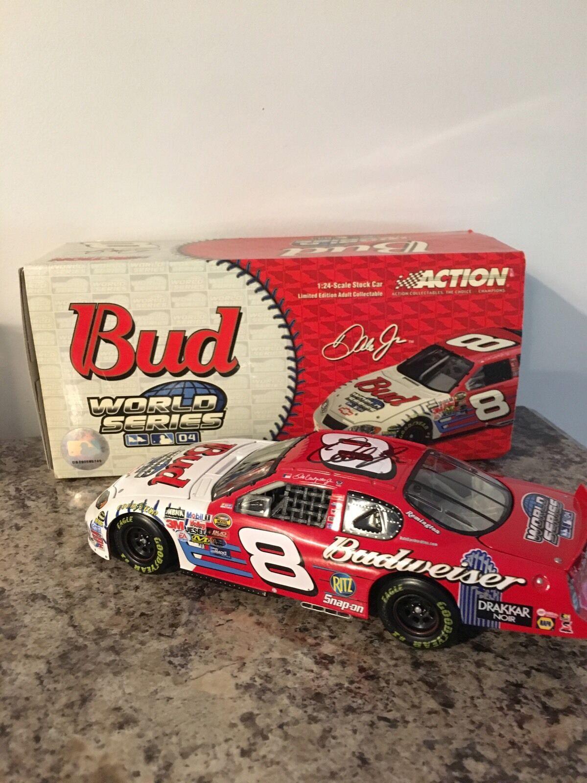 Budweiser Dale Earnhardt Jr World Series Monte Carlo 8 Nascar 1 24 Autographed