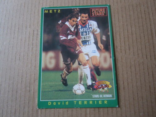 David Terrier Official Football Cards 1995 Carte panini Metz N°234