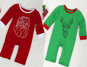 3fb1873d3 Christmas Jumpsuit Newborn Baby Girl Long Sleeve Romper Climbing ...