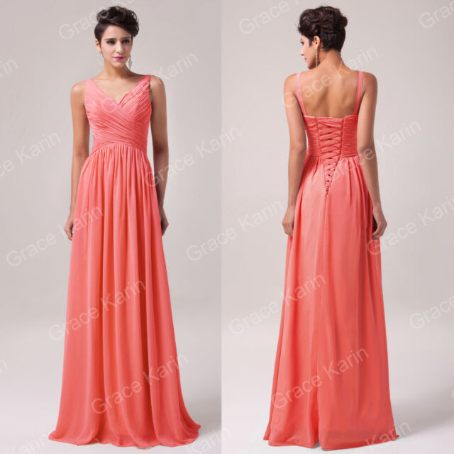 2015 Long Chiffon Evening Party Prom Bridesmaid Wedding Pageant Dress PLUS SIZE