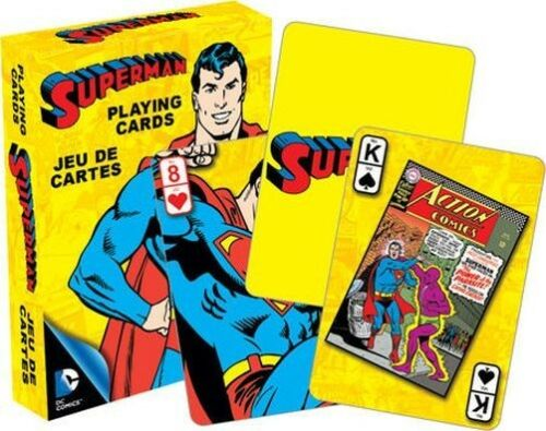 52 CARDS NEW DC COMICS MAN OF STEEL 52295 PLAYING CARD DECK SUPERMAN RETRO