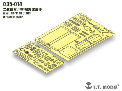1//35 E.T Model C35014 German B1 bis PE detail set for Tamiya 35287