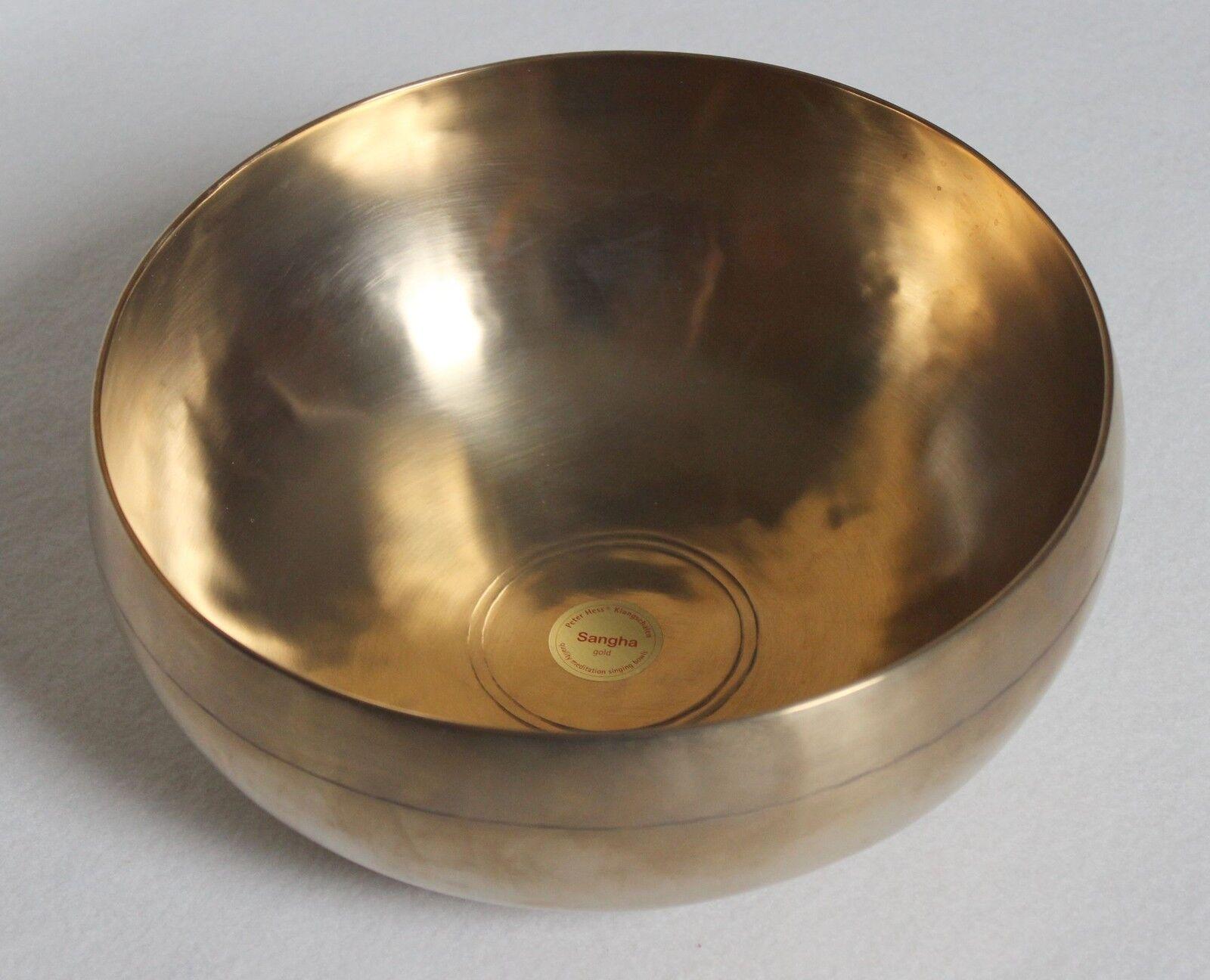 Peter Hess Klangschale Sangha Meditationsschale Qualität silber Ø ca. 17cm 700g
