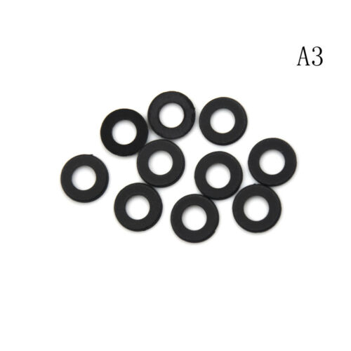 TFDCA M3 M4 M5 M6 M8 M10 M12 Form A Flat Black Thick Neoprene Rubber Washers