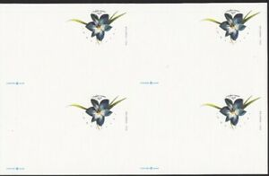 2017-Azulillo-Chilean-Blue-Crocus-Postal-Card-UX647-UNCUT-BLOCK