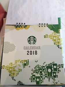 image is loading starbucks calendar 2018 thailand and sticker no card