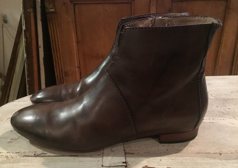 Alberto Fermani Brown Leather Or Zip Bootie Size 38 Or Leather 7.5 df0fcf