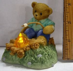 Cherished-Teddies-Kate-Warming-By-The-Fire-Charter-Member-Exclusive-Figurine