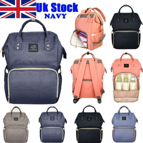 Navy Multifunctional Large Baby Diaper Backpack Mommy Changing Bag Mummy Nappy