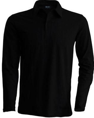 KARIBAN POLO LANGARM Shirt Pique Longsleeve KONTRAST - S M L XL XXL 3XL 4XL(2)