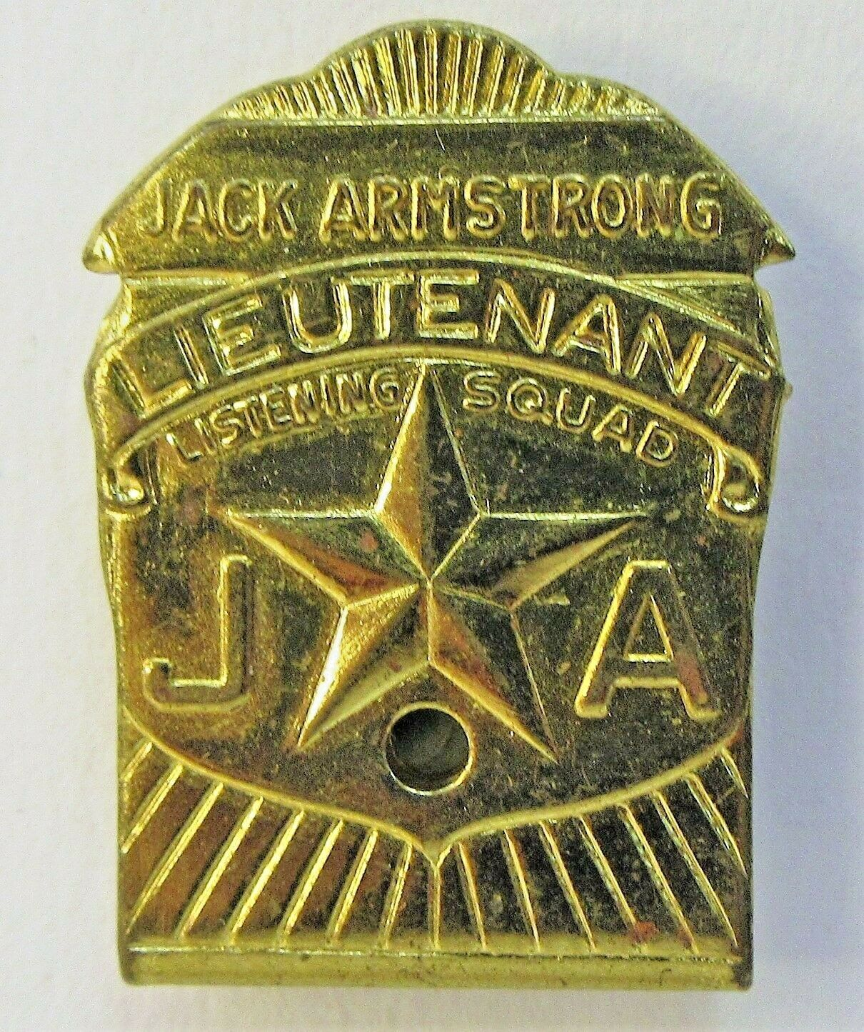 Rare 1940 JACK ARMSTRONG LIEUTENANT LISTENING SQUAD radio premium HI-GRADE HI-GRADE HI-GRADE  e9f