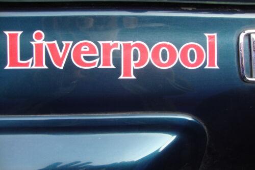 2 x liverpool 8 car window stickers bumpers motor bike helmet decals
