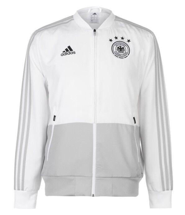 Adidas Alemania DFB Caliente Chaqueta Himno blancoo Negro Todas Tallas Nuevo
