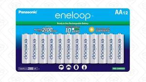 Panasonic-Eneloop-AA-BK-3MCCA12BA-Ni-MH-Rechargeable-Batteries-12-Pack