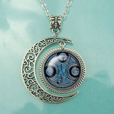 Time Lord Seal pendant Dr Who necklace Whovian jewelry Moon pendants Unique gift