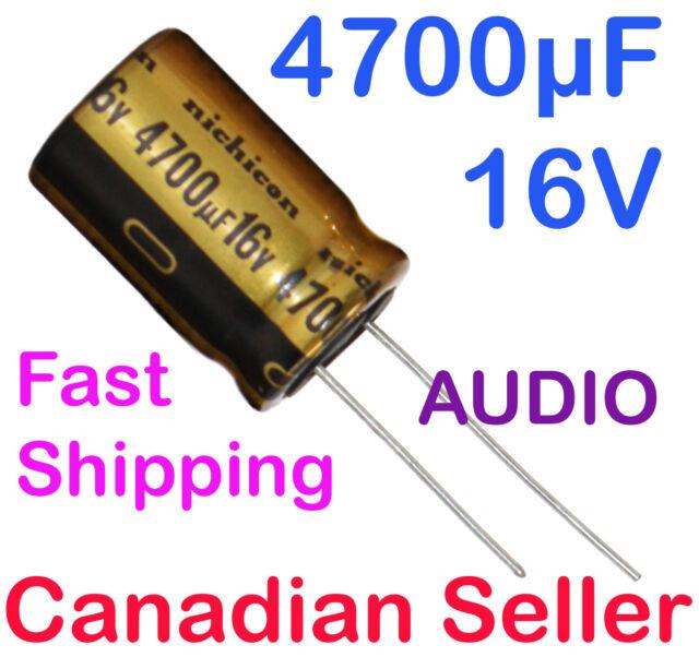 4 PCS Nichicon Elko Audio UKA0J472MHD 4700uF 6,3V 12,5x25 RM5 105 ° C 2000h #BP