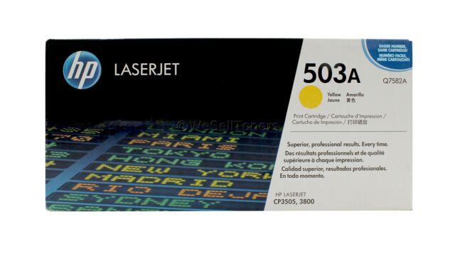 HP Q7582A Yellow Toner Cartridge 503A Genuine New Sealed Box