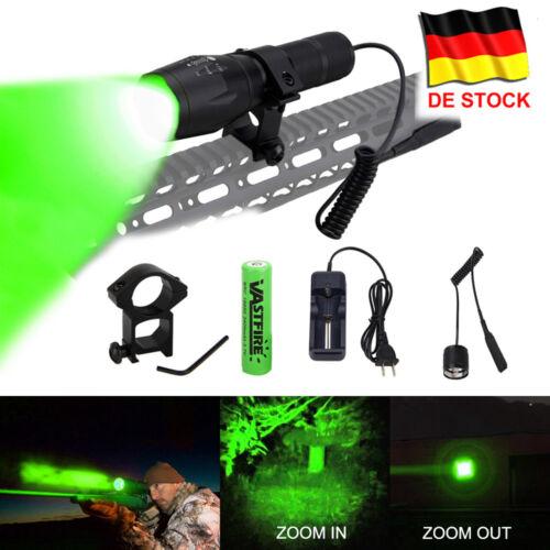 Q5 Rot//Grün LED Zoom Focus 6000LM Taschenlampe Jagd 18650 Camping Schalter Licht