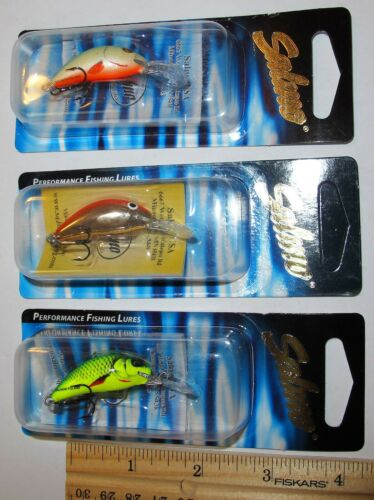 Three Different Color Ultra Lite Salmo Hornet Lures 1 3//8 in 1//16 oz NEW #3 3