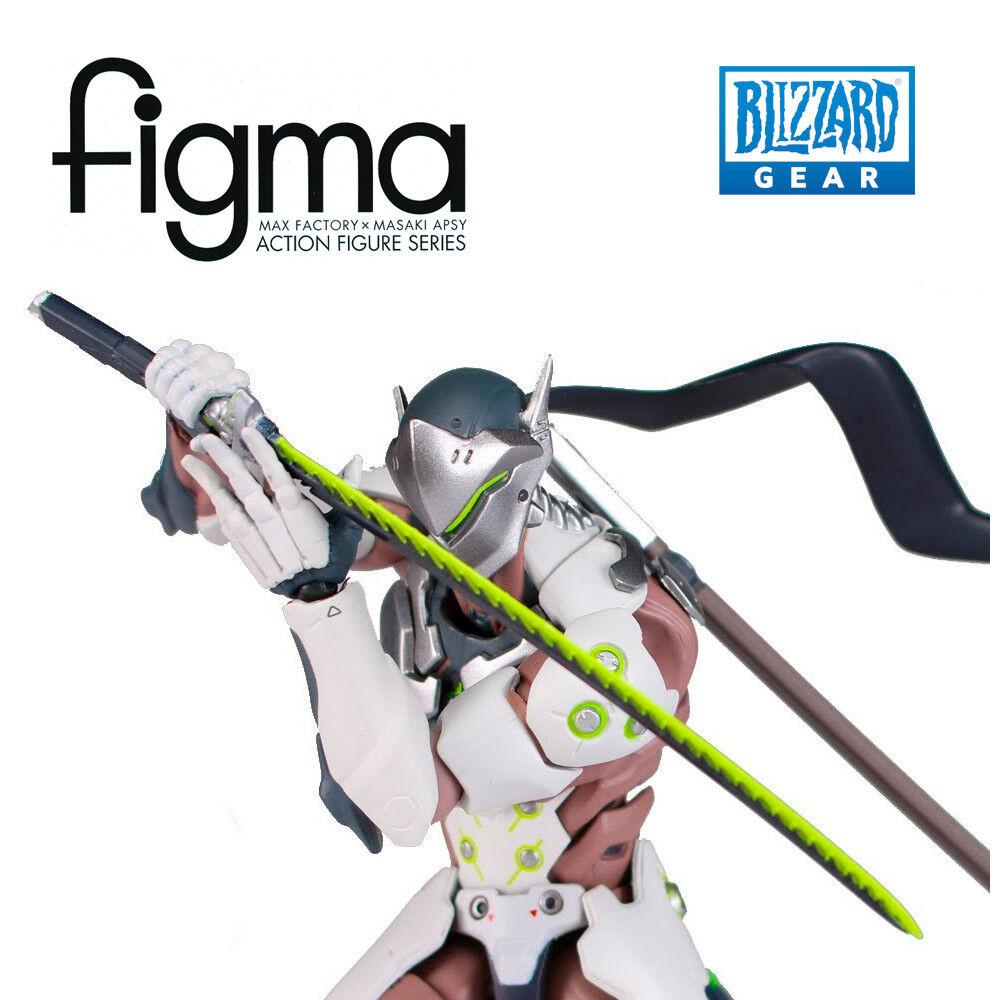 FINGMA • Genji Figma Action Figure   373 Gengi Overwatch HOTS BLIZZARD NEW RARE