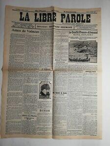 N195-La-Une-Du-Journal-la-libre-parole-8-juillet-1911-ame-de-vaincu-conflit