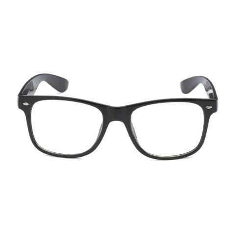 Age 3-10 KIDS Childrens Nerd Retro Oversize Black Frame Clear Lens Eye Glasses