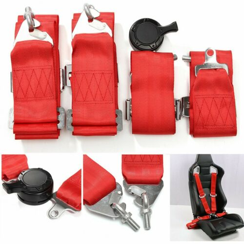 3/'/' 4 Point Racing Style Harness Safety Seat Belt 4PT Camlock Quick Release