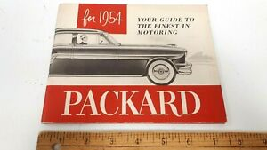 1954-PACKARD-Original-Owner-039-s-Manual-Very-Good-Condition-US