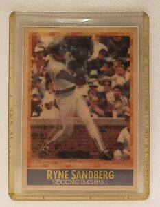 1990 Sportflics Baseball Card 54 Ryne Sandberg Chicago Cubs Nmm Ebay