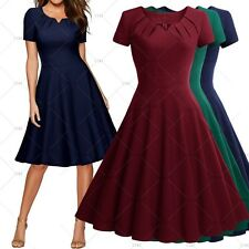 Women Vintage 1950's Style Cocktail Evening Party Elegant Swing A-line Dresses