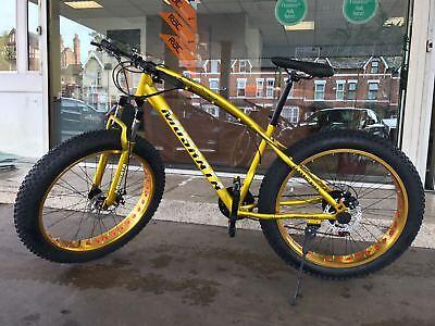 "Big Fat Bike 26''x4.0"" MTB Snow,Sand& mountain Beach front suspension,disc brake"