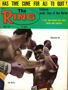 1973-July-The-Ring-boxing-magazine-Muhammad-Ali-Ken-Norton-EXCELLENT