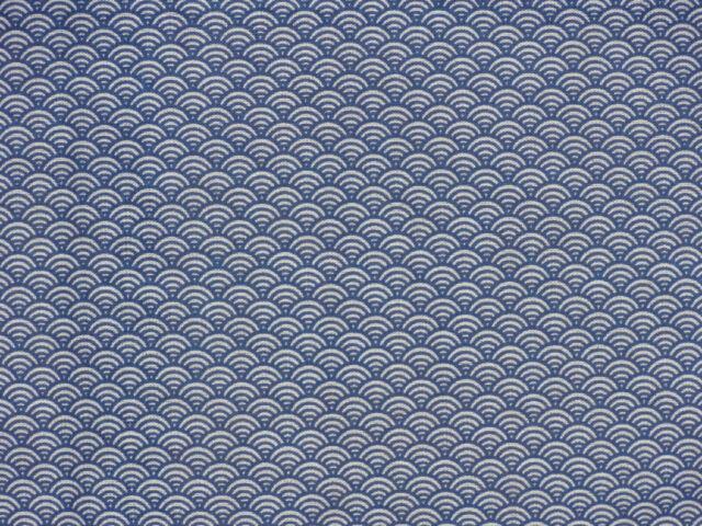 Tenugui Towel Cotton Gauze Japanese Fabric 'Blue Waves' Seigaiha Pattern Motif