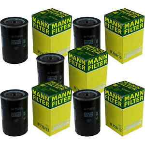 5x MANN-FILTER Filtro Olio W 719/13 (10) Olio Filtro
