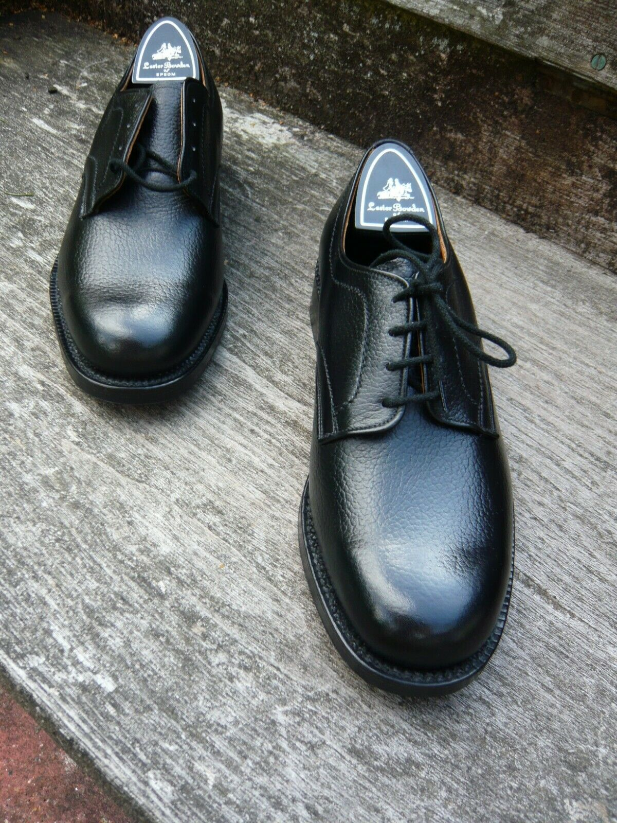 CHEANEY Vintage Derby Sautope da uomo – Nero – – condizione mai indossato Sautope classeiche da uomo