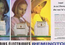 PUBLICITE ADVERTISING 015 1962 REMINGTON les rasoirs électriques (2 pages)