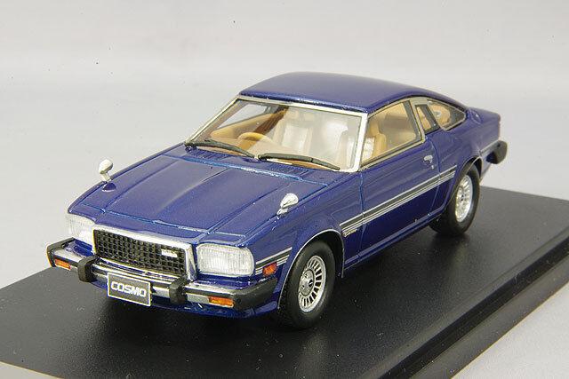 1 43 Hi-Story Mazda Cosmo Coupé Limited 1979 AVI singe bleu métallisé HS141BL