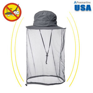 7e4edf4397b47 Gray Boonie Hat with Mesh Mosquito Netting - Insect   Bugs Outdoor ...
