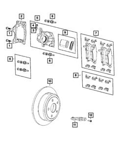 Genuine Mopar Wheel Speed Sensor Rear Wheel 68293133AB