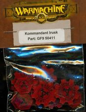 PRIVATEER PRESS WARMACHINE GF950411 WARCASTER TOKEN KOMMANDER IRUSK