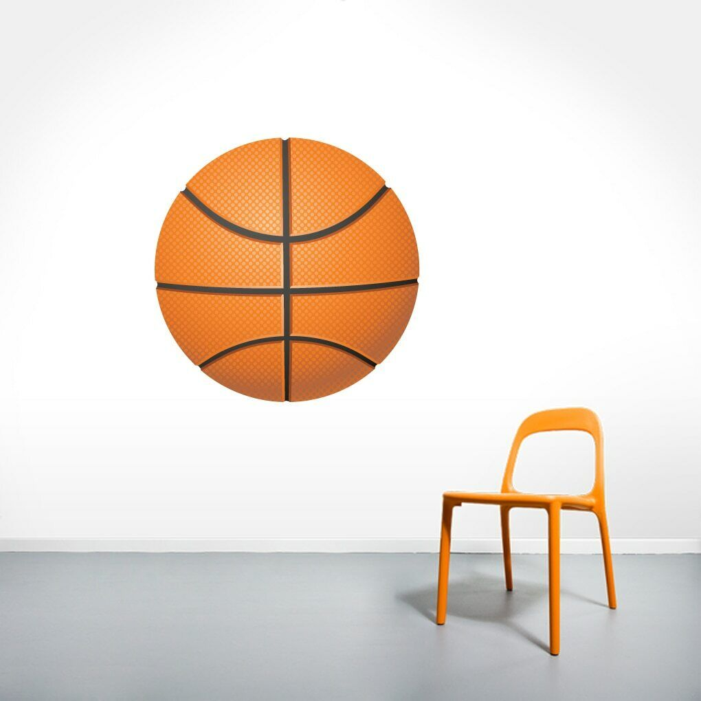 Basketball Printed Wall Decal - Sports Athletics Kids Room Man Cave Decals Mural