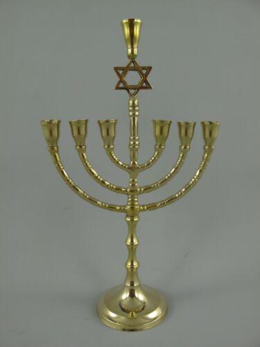 Menorah Menora Davidleuchter Kerzenleuchter DAVIDSTERN Chanukkaleuchter 7-armig