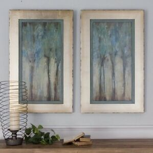 Whispering-Wind-Trees-Oil-Reproductions-Hand-Painted-Canvas-Wall-Art-Framed