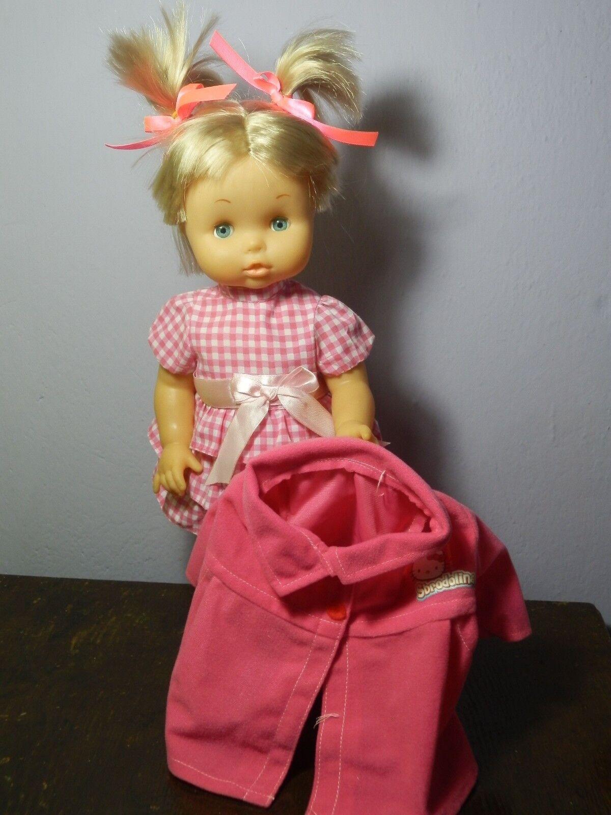 Sbrodolina anni 80/90 Bambola + Cappottino originale Doll Poupee Puppen  Vintage
