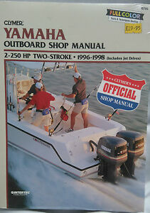 Details about Yamaha Shop Manual 2 - 225HP 2 Stroke 1996 - 1998 with on